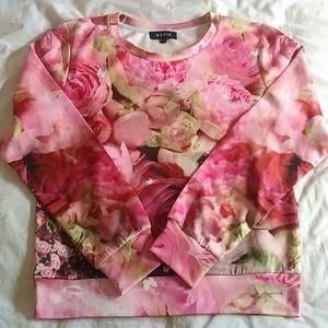 NAVIE - roses print top